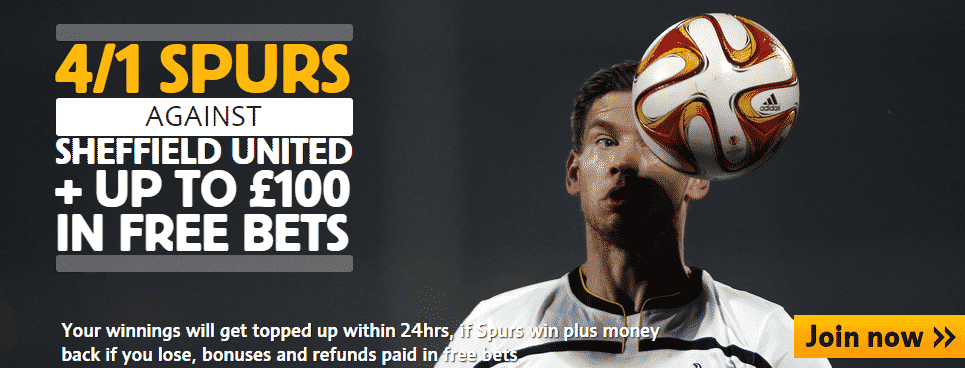 betffair spurs offer