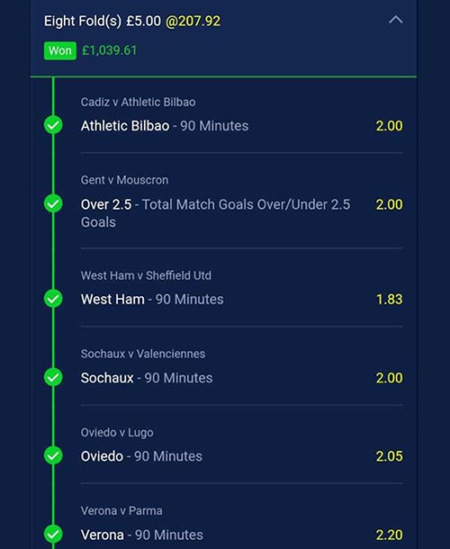 Winning football tips and predictions (Clever Bets bet 1)
