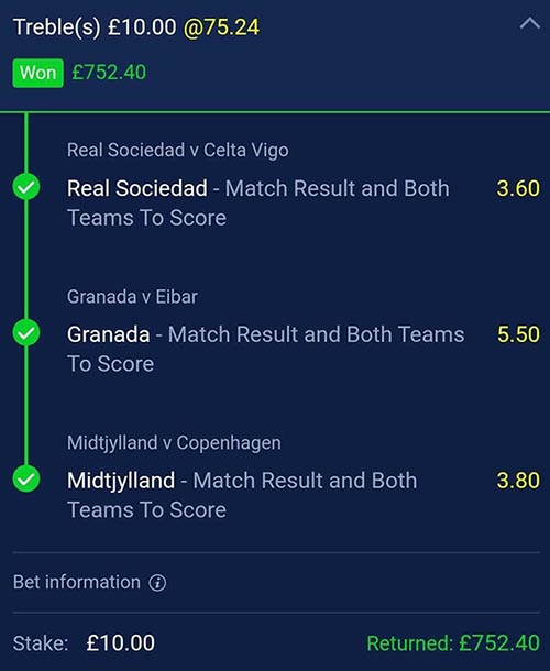 Winning football tips and predictions (Clever Bets bet 2)
