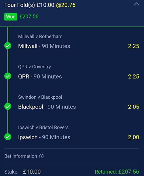Winning football tips and predictions (Clever Bets bet 4)
